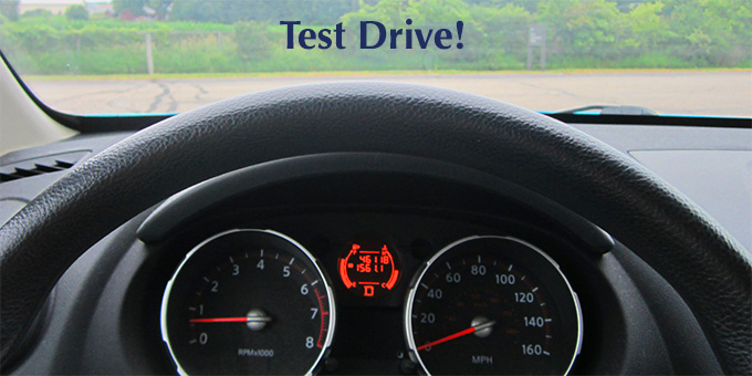 Do some smart test drives before buying a new car.