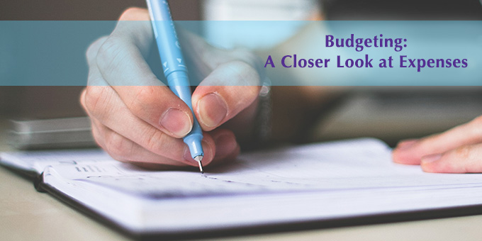 Writing in a journal is a good way to track expenses