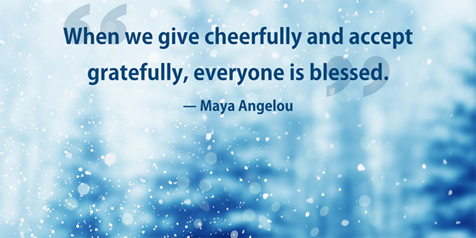 Maya Angelou quote about giving