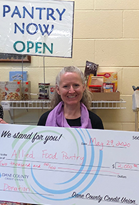 Allied Food Pantry receives donation from dane county credit union