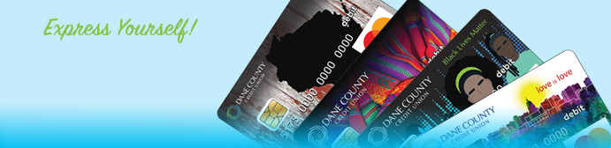 Express yourself with unique debit card designs for your checking account in Madison, Wisconsin