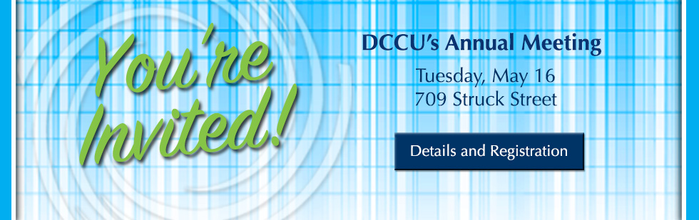 Join the fun at DCCU's Annual Meeting on May 16, 2017
