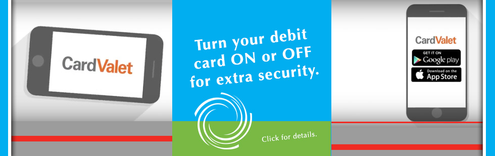 Turn your Dane County Credit Union debit card on and off for extra security.